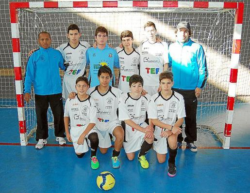 Una imagen de la plantilla cadete de la Peña Deportiva.