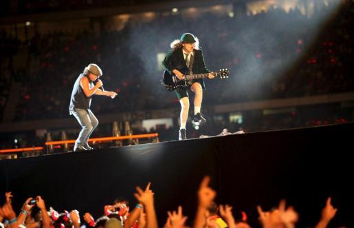 El grupo australiano AC/DC, en un concierto de 2010.