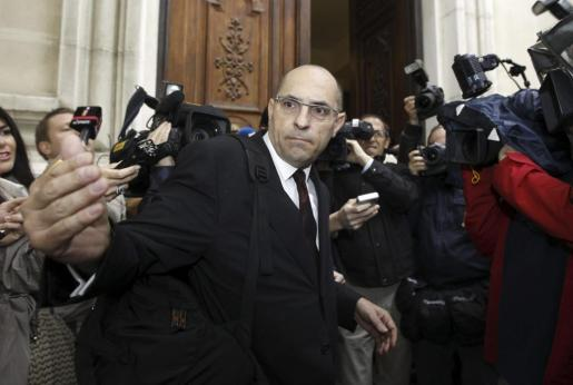 El magistrado Elpidio José Silva, a su llegada al Tribunal Superior de Justicia de Madrid para el juicio.