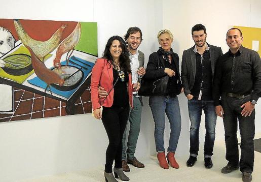 Lina Amoraga, Toni Caldentey, Maria Adrover, Biel Perelló y Jaume Veny.