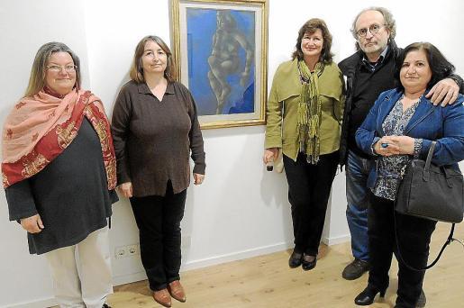 Violetta Jesse de Jansen, Dolors Pérez, Anna Milne, Pere Lorente y Mª Antònia Bibiloni.