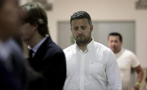 Rafael Estarellas, esta mañana en los juzgados.