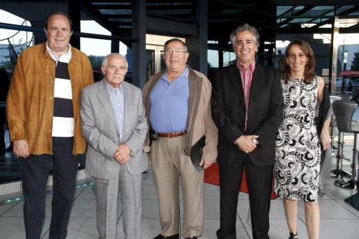 José María Rodríguez, Joan Cunill, Paco Frau, Rogelio Araujo y Sira Glynn.