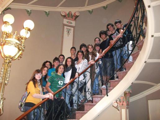 Grupo de alumnos de 4º de ESO de la escuela Sant Vicens de Paül de Sóller.