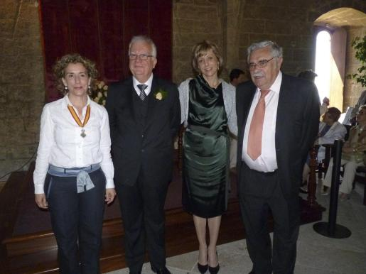 Aina Calvo, Bernat Vicens, Aina Calafat y Pere A. Serra.