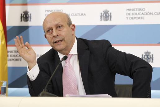 El ministro de Educación, José Ignacio Wert, durante una rueda de prensa ofrecida el pasado año.
