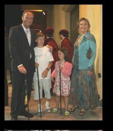 Alberto Fabra, con su familia.