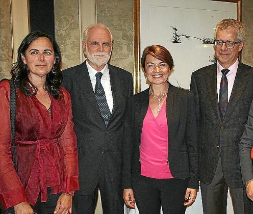 Patrizia y Carlo Montaldo, Margarita Durán y Christian Neukom.