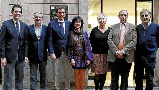 Fernando Gilet, Joan Rotger, Mateo Isern, Àngels Fermoselle, Concha Gallego, Pere Ollers Vives y Antoni Planas.