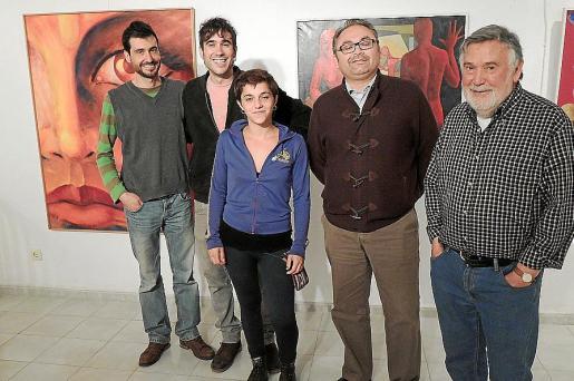 Pere Lacomba, Francesc Lacomba, Poli Bauçà, Miquel Porquer y Joan Lacomba.