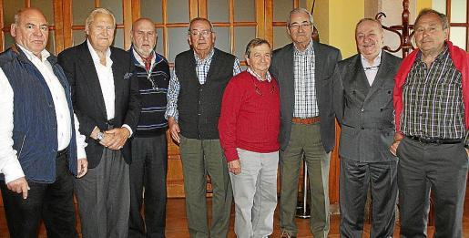 Jerónimo Llambías, Pep Sans, Antonio Pozo, Tomeu Genestra, Joan Rian, Andrés Álvarez, Miguel Jover y Josep Lladó.