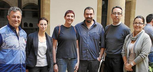 Ángel Martín, Malén Munar, Aina Tudurí, Alfonso Comol, Toni Soler y Antonia Pardo.