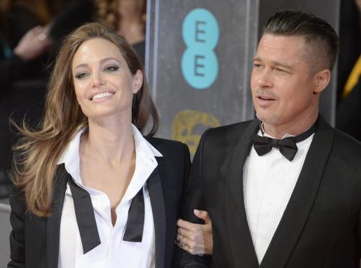 Los actores Angelina Jolie y Brad Pitt.