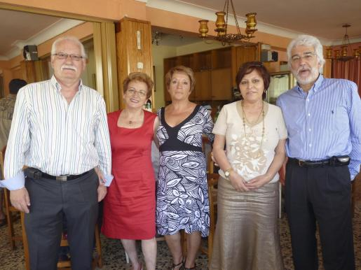 Antonio Rodríguez, Maruchi Rivadulla, Àngela Toimil, María José Gómez y Manolo Castro.
