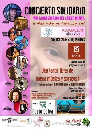 El concierto solidario a favor de la lucha contra el cáncer infantil contará con numerosos artistas.