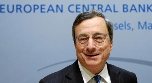 El presidente del BCE, Mario Draghi, compareció en rueda de prensa tras el consejo de gobierno del BCE en Bruselas.