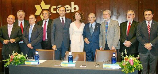 Francisco Martorell, Rafel Roig, Joan Bufí, Joan Rossell, José Ramón Bauzá, Carmen Planas Palou, Josep Oliver, Eduardo López, Joan Melis y Aurelio Vázquez.