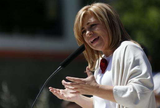 La cabeza de lista del PSOE al Parlamento Europeo (PE), Elena Valenciano.