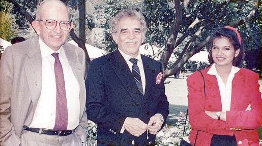 Plinio Apuleyo Mendoza, Gabriel García Márquez y Camila Mendoza.