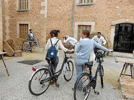 Se recreó un 'photocall' al estilo retro para las bicicletas.