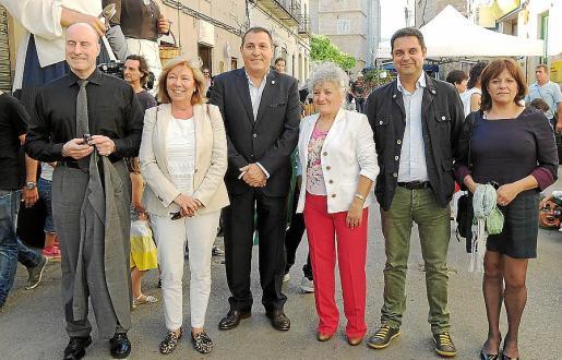 George Krist, Lourdes Picó, Jeroni Salom, Rosa Vich, Tomeu Morro y Maria Antònia Ferrer.