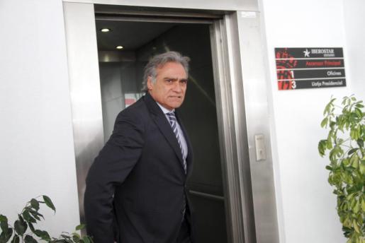 Gabriel Cerdà, presidente del Real Mallorca, llegando a un Consejo de Administración en una imagen de archivo
