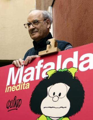 """Fotografía de archivo del 26 de noviembre de 2008, del dibujante argentino Joaquín Salvador Lavado """"Quino""""."""