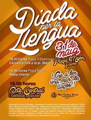 La Obra cultural Balear organiza una 'Diada per la llengua'.
