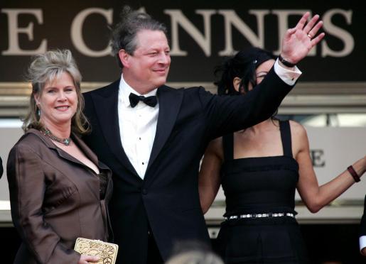 Al Gore y su esposa, en una imagen de archivo cuando asistieron al Festival de Cannes.