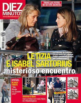 Portada de esta semana de Diez Minutos que recoge la cita entre Isabel Sartorius y la princesa Letizia.