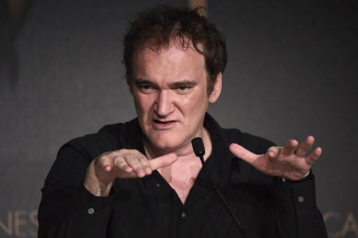 """El director estadounidense Quentin Tarantino ofrece una rueda de prensa en la 67 edición del Festival de Cine de Cannes (Francia). La película """"Pulp Fiction"""" de Tarantino celebra este año su vigésimo aniversario, y será recordada en el festival."""