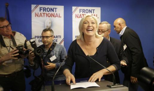 Marine Le Pen, tras la victoria.