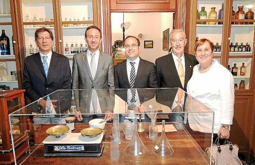 Antonio Real, Rafel Fernández, Luis Rafael Santiso, Carles Antich y Antònia Maria Llinàs.