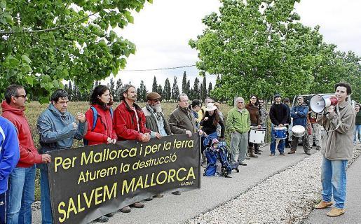 Imagen de archivo de una protesta contra el golf de Son Saletes.