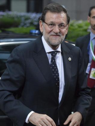 El presidente español Mariano Rajoy a su llegada al encuentro informal del Consejo Europeo, en Bruselas.
