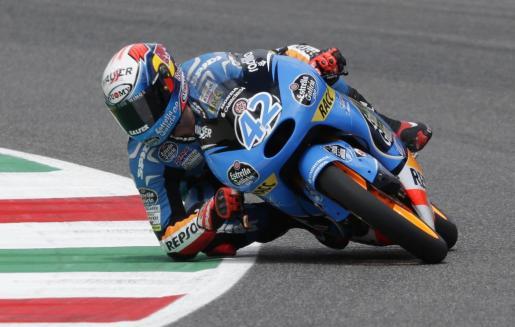 Alex Rins en plenos entrenamientos de clasificación del Gran Premio de Italia.