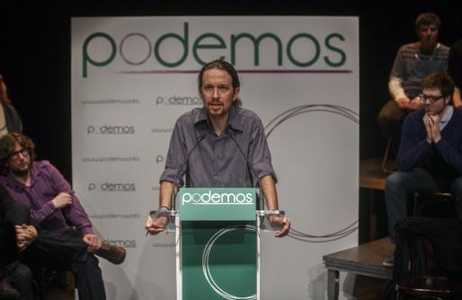 """Pablo Iglesias, líder de """"Podemos"""", en una imagen de archivo."""