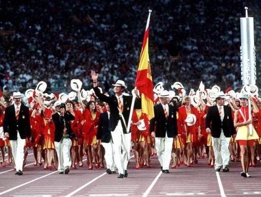 El prícipe Felipe fue el abanderado de la delegación española en los Juegos Olímpicos de Barcelona 92