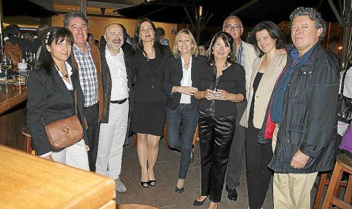 Manoli Sánchez, Toni Valdivieso, Carles Ponseti, Maria Pons, Laura Rocha, Antoni Morey, Amelia Forteza, Joana Mª Malondra y Miquel Dolç.