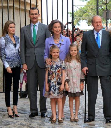 La Familia Real, el pasado Domingo de Resurección en Palma.