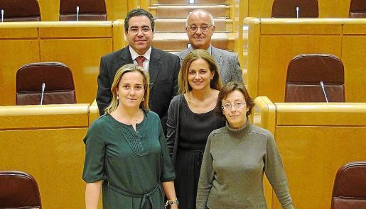 MADRID. POLITICA. SENADORES DEL PP BALEAR VOTAN CON EL PSOE POR ORDEN DE BAUZA, CONTRA LAS PROSPECCIONES PETROLIFERAS. JOANA FRANCIS PONS / LLORENÇ BOSCH / PEP SALA / MARIA ANTONIA GARAU / GARI DURAN