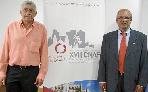Pau Bonet y Pedro Mayol, presidente de los administradores de fincas de Balears.