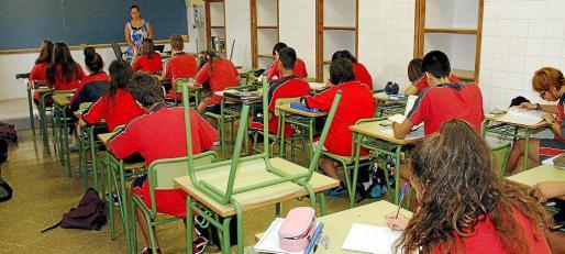 palma huelga docentes colegio sant pere foto jaume morey