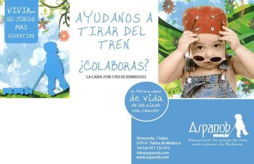 Aspanob, la Asociación de Padres de Niños con Cáncer de Baleares.