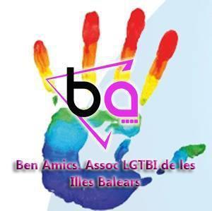 Logotipo de Ben Amics, Asociación de Lesbianas, Gays, Trans, Bisexuales e Intersexuales de las Balears.