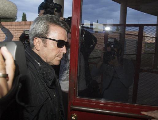 El torero José Ortega Cano, cuando ingresó en la prisión de Zuera (Zaragoza).