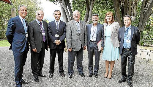 Raúl González, Xavier Arquerons, Joaquín García, Francisco Bouthelier, Javier de los Santos, Mireia Rius y José María Castro.