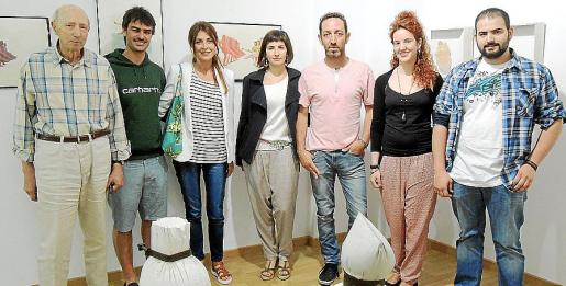 Toni Jaume, Sebastià Scala, Floriane Scala, Magdalena Luis, Miguel Gamundí, Georgina Gamundí y Miquel Luis.