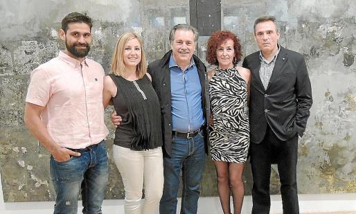 Toni Montero, Graciela Jurado, Tomás Jurado, Amparo García y Gabriel Gonzálvez.