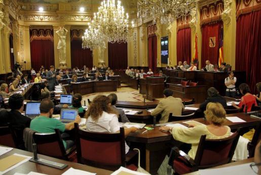 Momento del plenario de ese martes en el Parlament balear donde se ha discutido reclamar una mejor financiación sanitaria a Madrid.